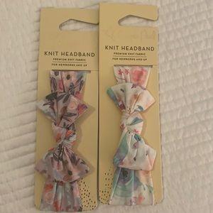 NWT Copper Pearl bow headbands